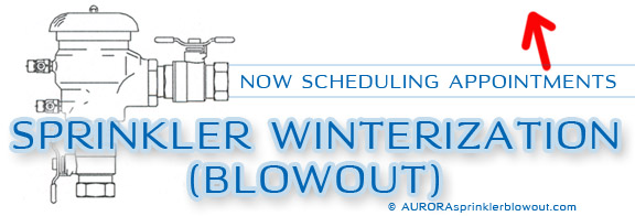 aurora sprinkler winterize blowout